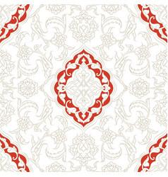 turkish iznik tile design vector image