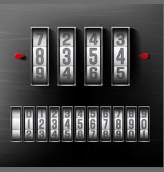 combination lock realistic metal vector image