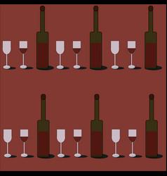 Wine pattern vector