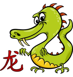 Dragon chinese zodiac horoscope sign vector