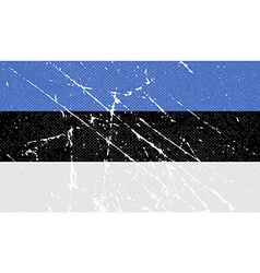 Flag of estonia with old texture vector