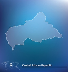 Map of central african republic vector