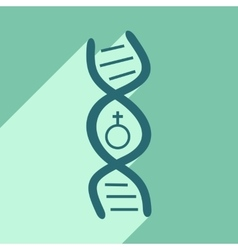 Flat with shadow icon and mobile application genes vector
