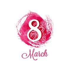 Greeting card with march 8 international womens vector