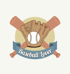 Baseball lover vector