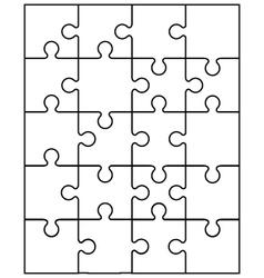 Small white puzzle vector
