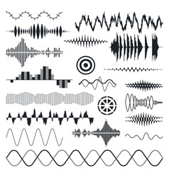Seamless sound waves set audio equalizer vector