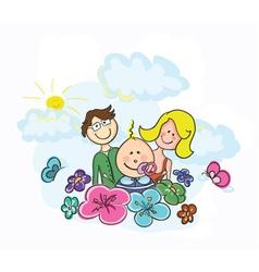 cartoon family vector image