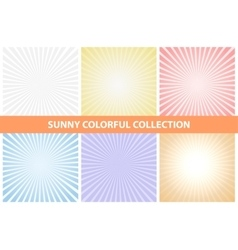 Sunny backgrounds colorful collection vector