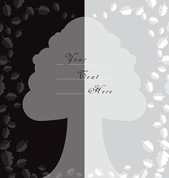Oak tree style background for cards vector