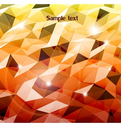 Abstract orange background Combination of triangle vector image