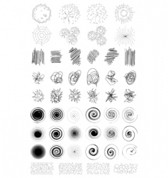 abstract spirals vector image vector image