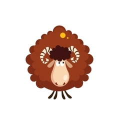 Brown sheep vector