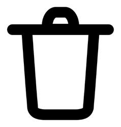 Bucket stroke icon vector
