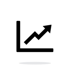 Chart up icon on white background vector image vector image