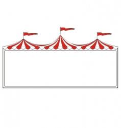 Circus border vector