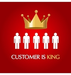 Customer is king consumer user queen vector