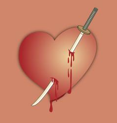 Died heart vector