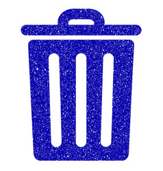 dustbin icon grunge watermark vector image