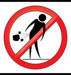 Forbid farting people sign vector image vector image