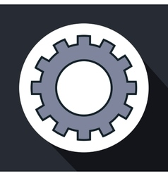 Gear setting machine isolated icon vector