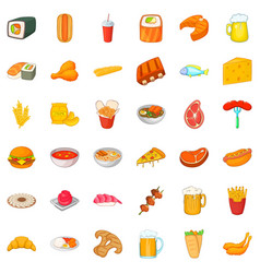 Glass beer icons set cartoon style vector