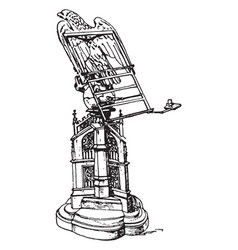 Gothic lectern vintage vector