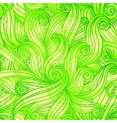 Green doodle abstract seamless pattern vector image vector image
