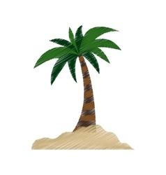 Island palm tree vector image vector image