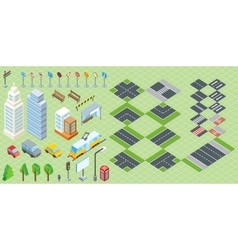 Isometric Part of the City Infrastructure vector image
