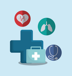Medical first aid kit vector