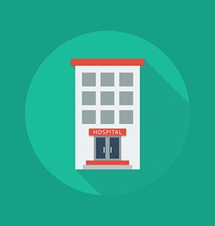 Medical Flat Icon Hospital vector image