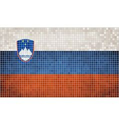 Mosaic Flag of Slovenia vector image vector image