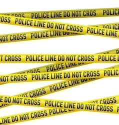 Police danger tape vector