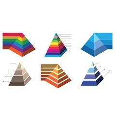 Pyramid chart 2 vector image