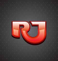 R and J letters ligature sign Luxury design vector image vector image