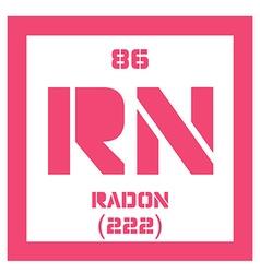 Radon chemical element vector image vector image