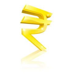 rupee currency sign vector image vector image