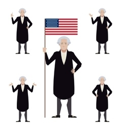 Set of washington flat icons vector