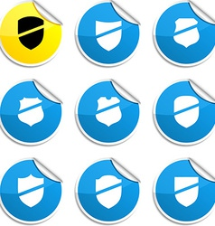 Shield stickers vector