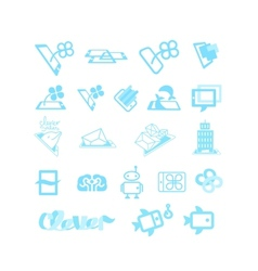 Sketches for logos or icons vector image vector image