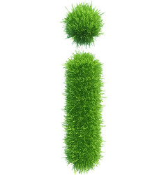 Small grass letter i on white background vector