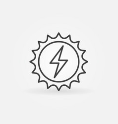solar energy concept icon vector image vector image