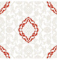 Turkish iznik tile design vector