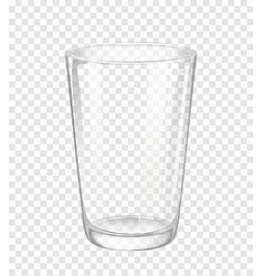 Water glass without water vector