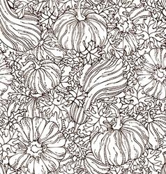 seamless sketch pumpkin pattern vector image