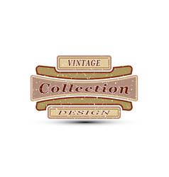 vintage emblem for you design vector image
