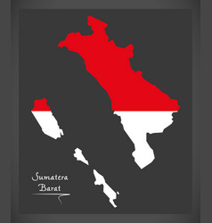 Sumatera barat indonesia map with indonesian vector
