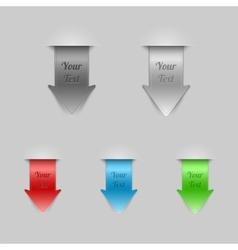Bookmarks Arrows vector image