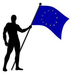 Flag bearer un vector